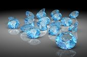 picture of aquamarine  - aquamarine on white background   - JPG