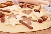 foto of christmas spices  - christmas baking - JPG