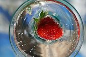 Strawberry In Glass
