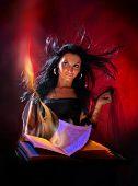 Portrait beautiful witch