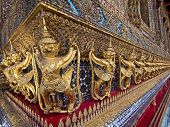 Guardian Statues at the Temple of the Emerald Buddha in Bangkok