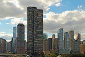 Skyline Of Chicago, Illinois Near Navy Pier