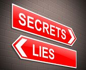 Secrets And Lies Concept.