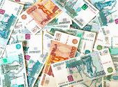 Ruble Bills Background