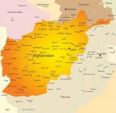 Vector map of Afganistan country