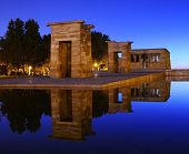 Temple Of Debod In Madrid.