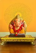 image of hindu-god  - Hindu God Ganesha idol - JPG