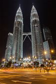 KUALA LUMPUR, MALAYSIA - JUNE 19: Petronas Twin Towers in twilight on June 19, 2011 in Kuala Lumpur. They were the tallest building in the world 1998-2004 and remain the tallest twin building