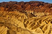 Death Valley National Park California Zabriskie point eroded mudstones