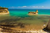 stock photo of sidari  - Sidari beach on Corfu  - JPG