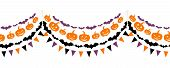 Halloween seamless garland. Vector illustration.