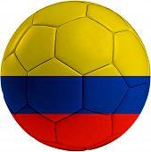 Football Ball With Columbian Flag