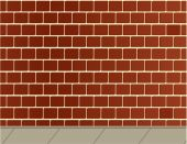 Brick Wall And Sidewalk Background
