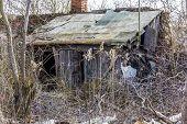 Demolished Old Wooden Cottag