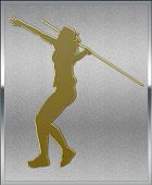 Gold On Silver Javelin Sport Emblem