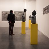 People Visiting Miart 2014 In Milan, Italy