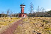 Kinnekulle Observation Tower In Sweden