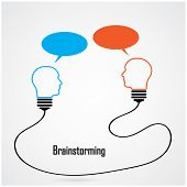 Creative Light Bulb Idea And Brainstorming Concept