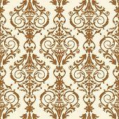 Baroque tile, vector illustration