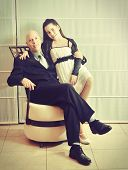 Постер, плакат: Father And Daughter: A Bat Mitzvah Girl With Her Father