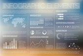 stock photo of diagram  - White transparent Vector set of Infographic elements for your documents and reports - JPG