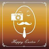 Happy Hipster Easter Egg Card