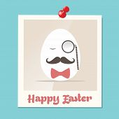 Hipster Easter Greeting Card Instant Photo