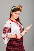 image of domina  - Housewife with rolling pin - JPG