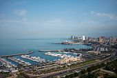 picture of kuwait  - Marina and city in Kuwait - JPG