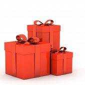 3D Gift Box And Ribbon