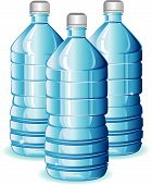 pic of plastic bottle  - Isolated blue bottles of clean water for design - JPG