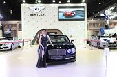 Bangkok - March 25 : Bentley The New Flying Spur Car With Unidentified Model On Display At The 35Th
