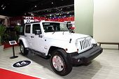 Nonthaburi - March 25: Jeep Sahara Wrangler Unlimited Car On Display At The 35Th Bangkok Internation