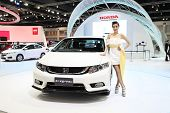 Bangkok - March 25 : Honda Civic Car With Unidentified Model On Display At The 35Th Bangkok Internat