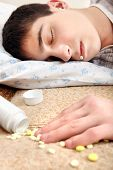 Teenager Sleeps Near The Pills