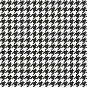 Houndstooth seamless vector black and white pattern. Tweed mod fashion background