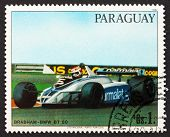 Postage Stamp Paraguay 1982 Race Car