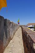 Walls Of Castle Castelo De Castro Marim In Portugal.