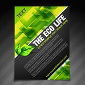 vector eco life brochure flyer design