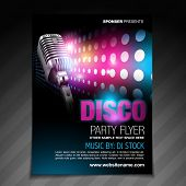 vector disco party flyer brochure design