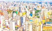 pic of polution  - View of buildings in Sao Paulo - JPG