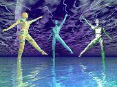 Dancing Water People