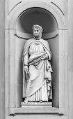 Statue Of Giovanni Boccaccio In Florence.