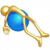 Yoga Pilates Physio Ball Exhaustion