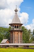 Wooden Church Of The Intercession. Nevsky Forest Park. St.-petersburg, Russia
