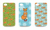 Mobile phone cover back set .Cute fox