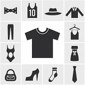 Various Monochrome Clothing Themed Graphics