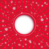 Christmas Applique Background. Vector Illustration For Your Design.