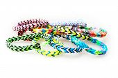 Isolated Colorful Rubber Bracelets