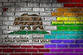 Dark Brick Wall - Lgbt Rights - California
